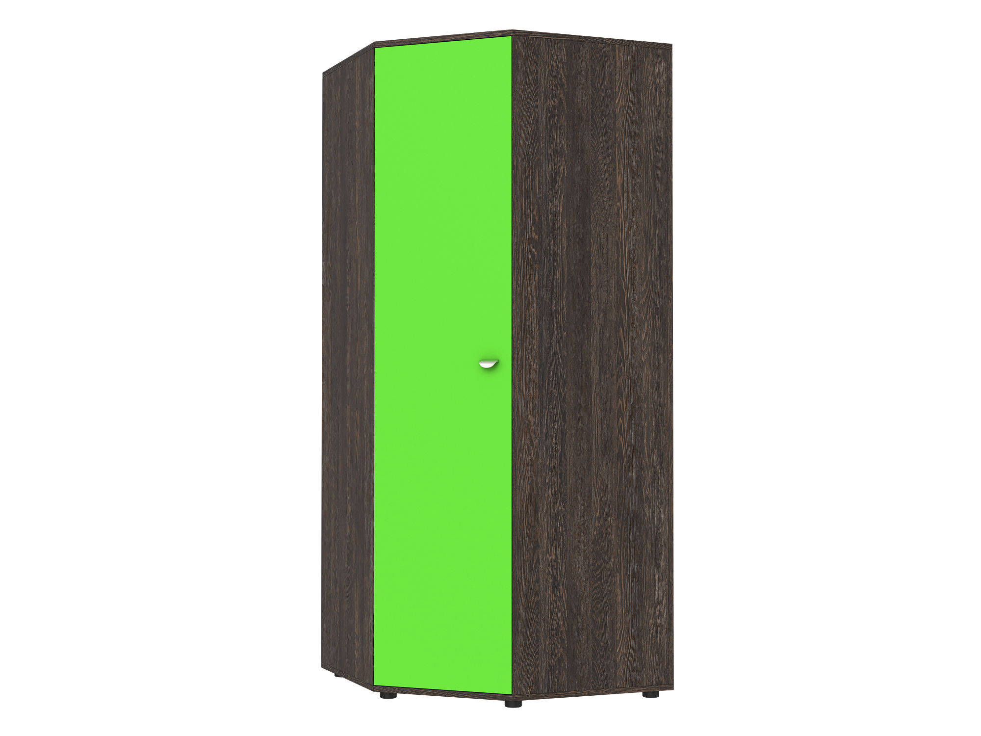 Шкаф угловой Golden Kids Зеленый, Коричневый темный