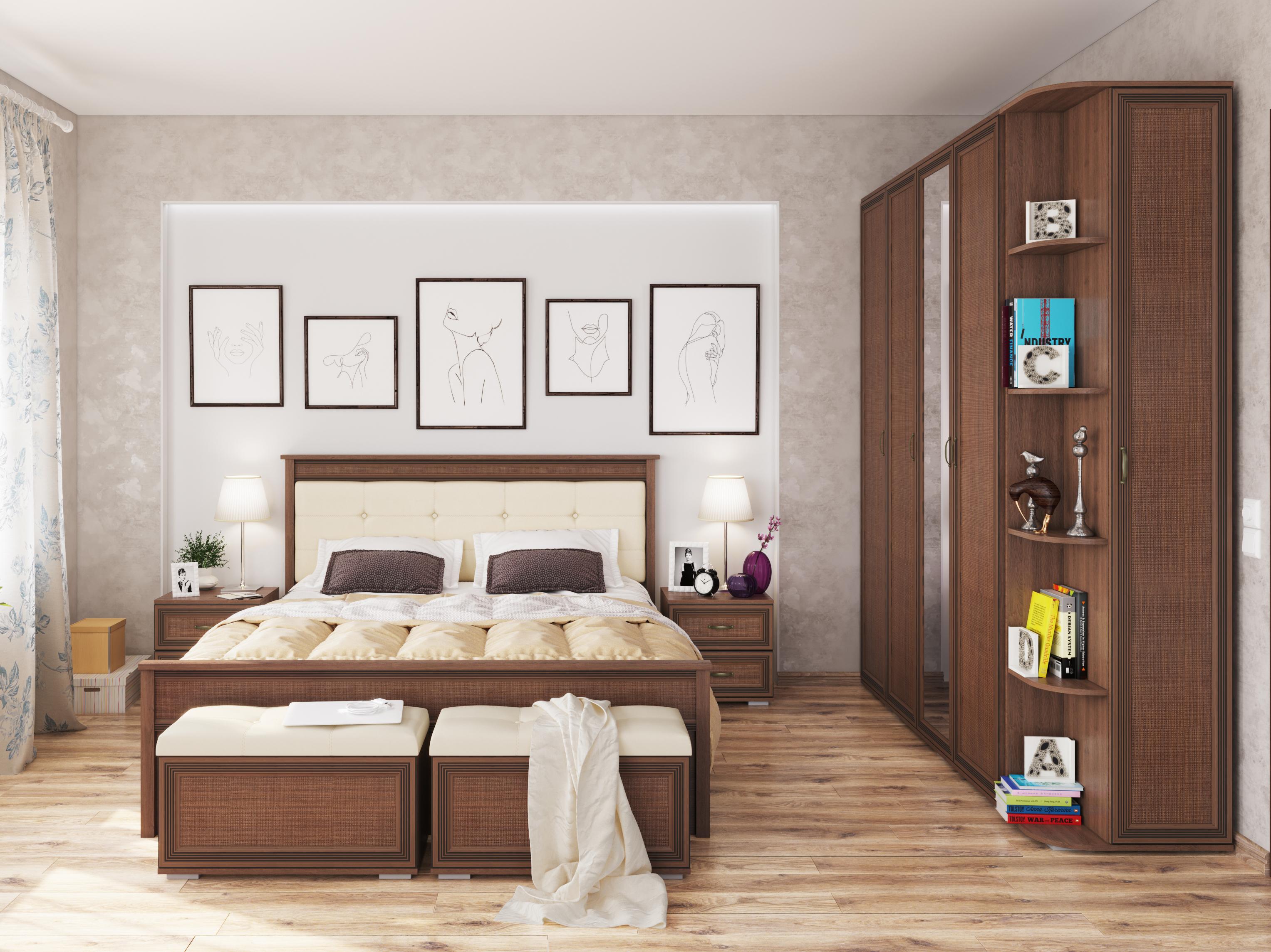 Спальня Ливорно Коричневый, Орех донской
