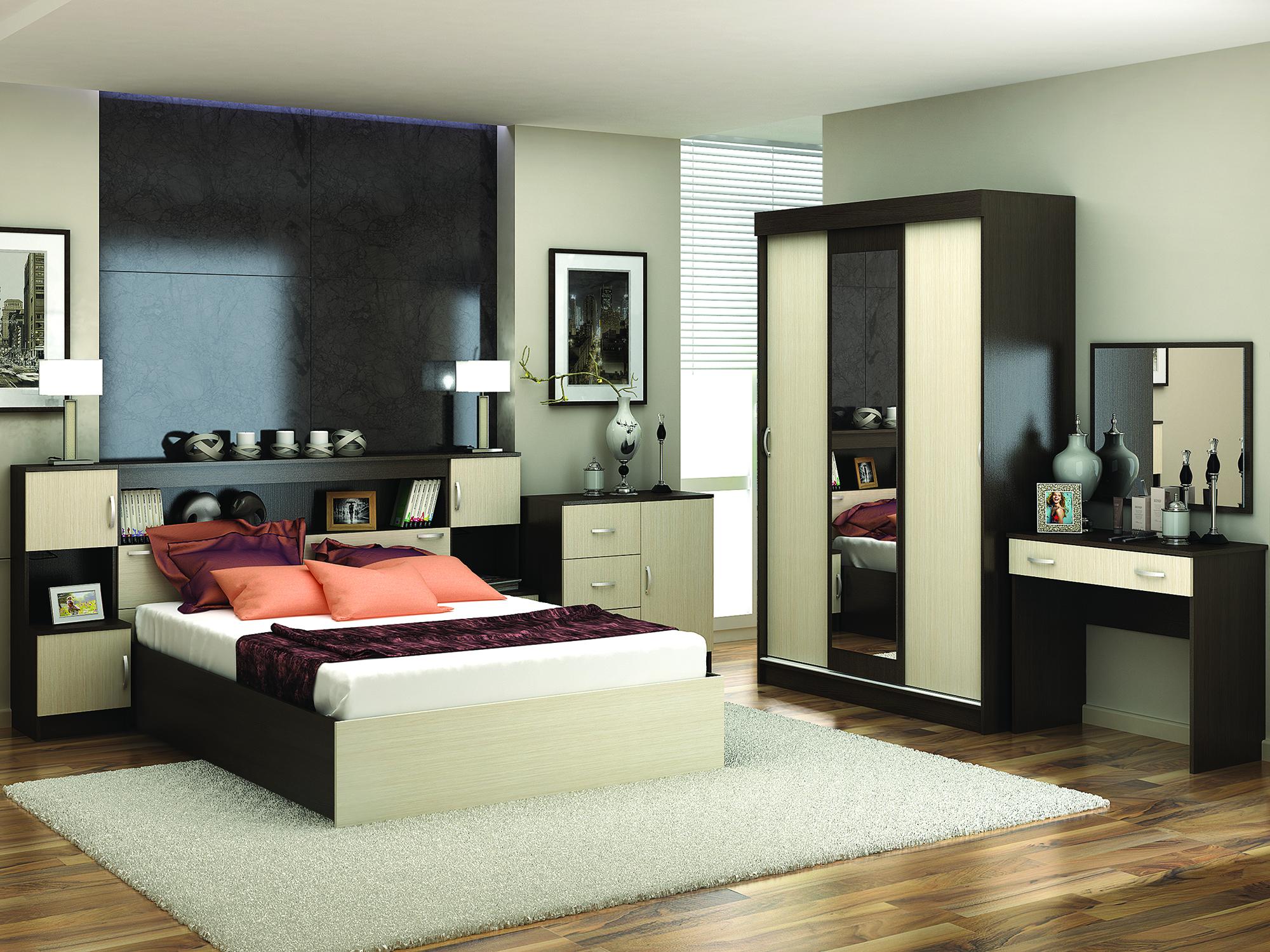 Спальня Бася Белфорд, Коричневый темный
