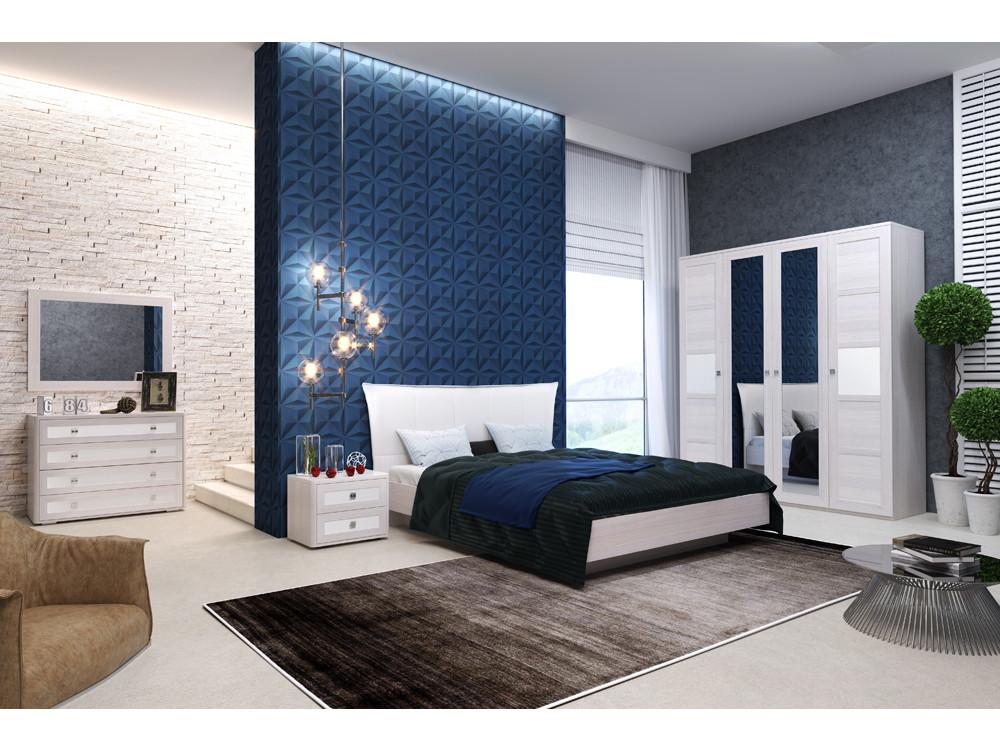 Спальня Парма Нео (Комплект 4) Бежевый, ясень анкор светлый